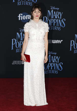 actress Emily Mortimer at the World premiere of Disneys Mary Poppins Returns held at the Dolby Theatre in Hollywood, USA on November 29, 2018.