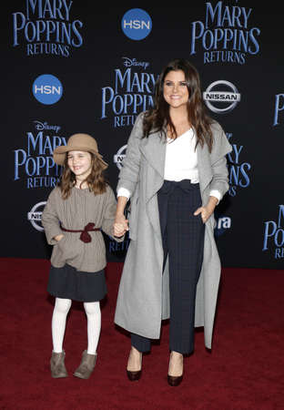 Tiffani Thiessen and Harper Renn Smith at the World premiere of Disneys Mary Poppins Returns held at the Dolby Theatre in Hollywood, USA on November 29, 2018.
