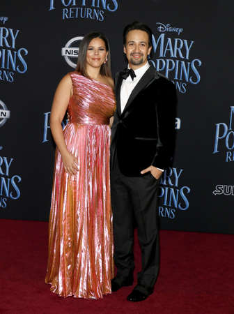 Vanessa Nadal and Lin-Manuel Miranda at the World premiere of Disneys Mary Poppins Returns held at the Dolby Theatre in Hollywood, USA on November 29, 2018. Redakční