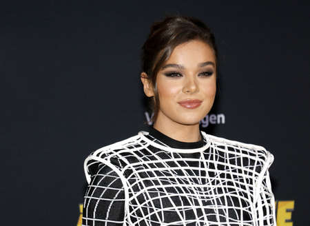 actress-singer Hailee Steinfeld at the World premiere of Bumblebee held at the TCL Chinese Theatre IMAX in Hollywood, USA on December 9, 2018. Editorial