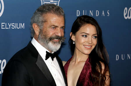 Mel Gibson and Rosalind Ross at the Art Of Elysiums 12th Annual Heaven Celebration held at the Private Venue in Los Angeles, USA on January 5, 2019.