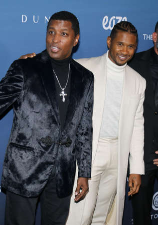 Babyface and Usher at the Art Of Elysium's 12th Annual Heaven Celebration held at the Private Venue in Los Angeles, USA on January 5, 2019.