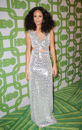 Thandie Newton at the HBOs 2019 Official Golden Globe Awards After Party held at the Circa 55 Restaurant in Beverly Hills, USA on January 6, 2019. Editorial