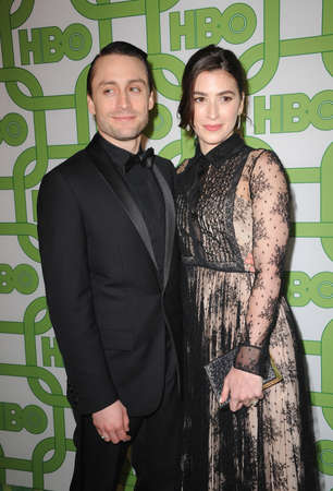 Kieran Culkin and Jazz Charton at the HBOs 2019 Official Golden Globe Awards After Party held at the Circa 55 Restaurant in Beverly Hills, USA on January 6, 2019. Editorial