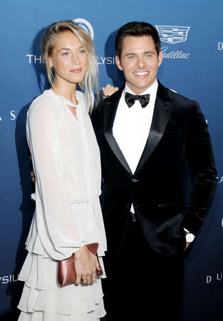 James Marsden and Edei at the Art Of Elysiums 12th Annual Heaven Celebration held at the Private Venue in Los Angeles, USA on January 5, 2019.
