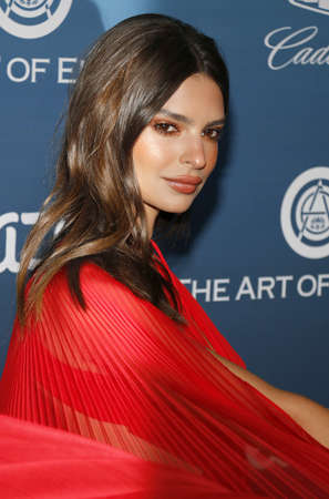 Emily Ratajkowski at the Art Of Elysiums 12th Annual Heaven Celebration held at the Private Venue in Los Angeles, USA on January 5, 2019.