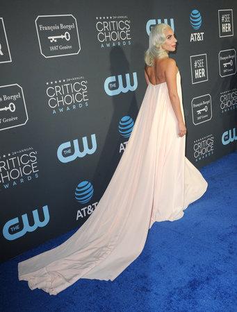 Lady Gaga at the 24th Annual Critics Choice Awards held at the Barker Hangar in Santa Monica, USA on January 13, 2019. Editorial