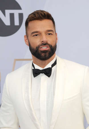 Ricky Martin at the 25th Annual Screen Actors Guild Awards held at the Shrine Auditorium in Los Angeles, USA on January 27, 2019.