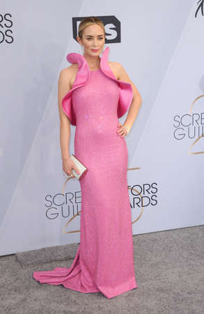 Emily Blunt at the 25th Annual Screen Actors Guild Awards held at the Shrine Auditorium in Los Angeles, USA on January 27, 2019. Editorial