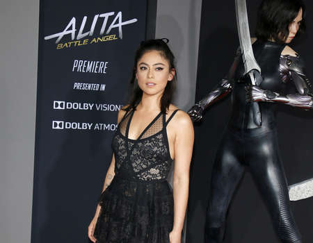 Rosa Salazar at the Los Angeles premiere of Alita: Battle Angel held at the Regency Village Theatre in Westwood, USA on February 5, 2019.