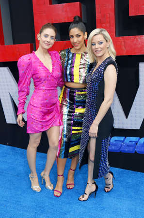 Alison Brie, Stephanie Beatriz and Elizabeth Banks at the Los Angeles premiere of The Lego Movie 2: The Second Part held at the Regency Village Theatre in Westwood, USA on February 2, 2019.