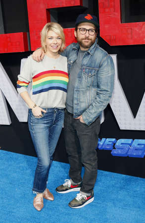 Mary Elizabeth Ellis and Charlie Day at the Los Angeles premiere of The Lego Movie 2: The Second Part held at the Regency Village Theatre in Westwood, USA on February 2, 2019. Sajtókép