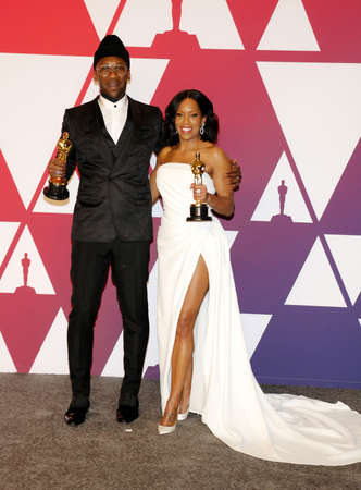 Regina King and Mahershala Ali at the 91st Annual Academy Awards - Press Room held at the Loews Hotel in Hollywood, USA on February 24, 2019.