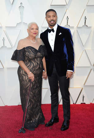 Donna Jordan and Michael B. Jordan at the 91st Annual Academy Awards held at the Hollywood and Highland in Los Angeles, USA on February 24, 2019. 報道画像