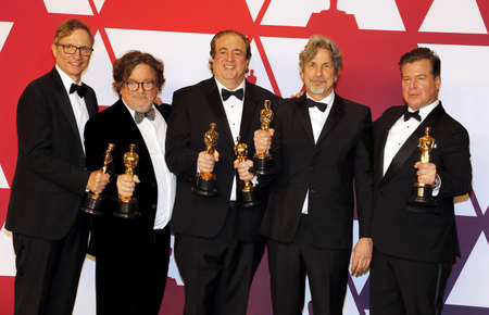 Jim Burke, Charles B. Wessler, Nick Vallelonga, Peter Farrelly and Brian Currie at the 91st Annual Academy Awards - Press Room held at the Loews Hotel in Hollywood, USA on February 24, 2019.