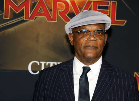 Samuel L. Jackson at the World premiere of 'Captain Marvel' held at the El Capitan Theater in Hollywood, USA on March 4, 2019.