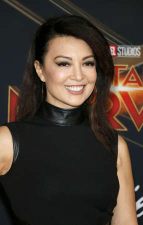 Ming-Na Wen at the World premiere of Captain Marvel held at the El Capitan Theater in Hollywood, USA on March 4, 2019. 에디토리얼