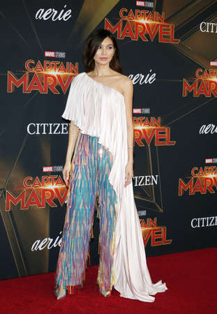 Gemma Chan at the World premiere of Captain Marvel held at the El Capitan Theater in Hollywood, USA on March 4, 2019.