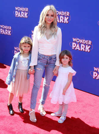Kinsley Buonfiglio, Charlie Buonfiglio and Amanda Stanton at the World premiere of Wonder Park held at the Regency Bruin Theatre in Westwood, USA on March 10, 2019.