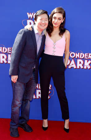 Ken Jeong and Mila Kunis at the World premiere of Wonder Park held at the Regency Bruin Theatre in Westwood, USA on March 10, 2019. Editorial