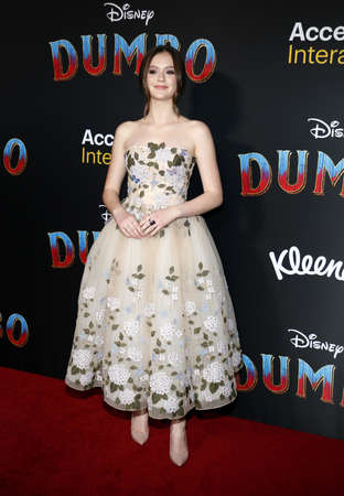 Olivia Sanabia at the World premiere of Dumbo held at the El Capitan Theatre in Hollywood, USA on March 11, 2019.