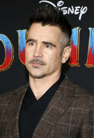 Colin Farrell at the World premiere of Dumbo held at the El Capitan Theatre in Hollywood, USA on March 11, 2019.