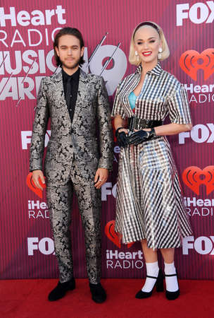 Katy Perry and Zedd at the 2019 iHeartRadio Music Awards held at the Microsoft Theater in Los Angeles, USA on March 14, 2019.