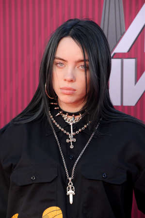 Billie Eilish at the 2019 iHeartRadio Music Awards held at the Microsoft Theater in Los Angeles, USA on March 14, 2019.