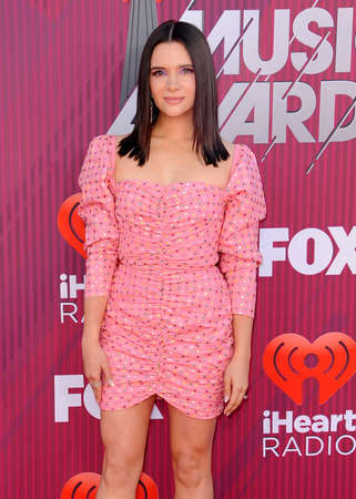 Katie Stevens at the 2019 iHeartRadio Music Awards held at the Microsoft Theater in Los Angeles, USA on March 14, 2019.