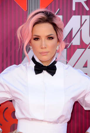 Halsey at the 2019 iHeartRadio Music Awards held at the Microsoft Theater in Los Angeles, USA on March 14, 2019.