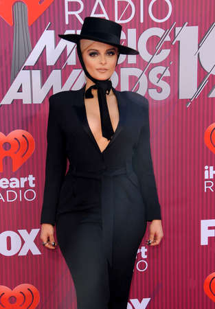 Bebe Rexha at the 2019 iHeartRadio Music Awards held at the Microsoft Theater in Los Angeles, USA on March 14, 2019.