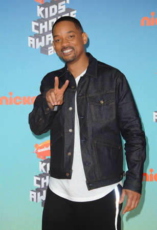 Will Smith at the Nickelodeon's 2019 Kids' Choice Awards held at the Galen Center in Los Angeles, USA on March 23, 2019.