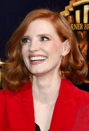 Jessica Chastain at the 2019 CinemaCon - Warner Bros. Pictures The Big Picture Presentation held at the Caesars Palace in Las Vegas, USA on April 2, 2019. Редакционное