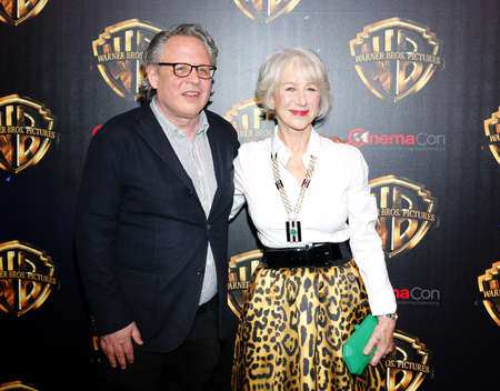 Helen Mirren and Bill Condon at the 2019 CinemaCon - Warner Bros. Pictures The Big Picture Presentation held at the Caesars Palace in Las Vegas, USA on April 2, 2019.