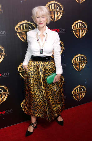 Helen Mirren at the 2019 CinemaCon - Warner Bros. Pictures The Big Picture Presentation held at the Caesars Palace in Las Vegas, USA on April 2, 2019. Redakční