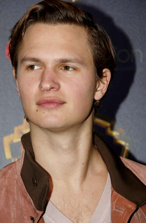 Ansel Elgort at the 2019 CinemaCon - Warner Bros. Pictures The Big Picture Presentation held at the Caesars Palace in Las Vegas, USA on April 2, 2019. Redakční