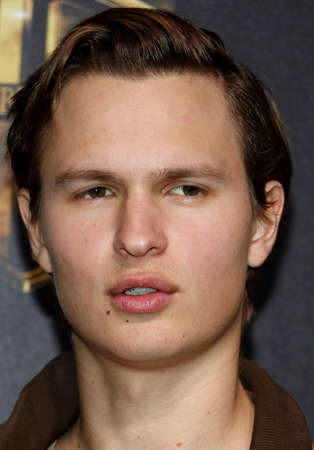 Ansel Elgort at the 2019 CinemaCon - Warner Bros. Pictures The Big Picture Presentation held at the Caesars Palace in Las Vegas, USA on April 2, 2019. Редакционное