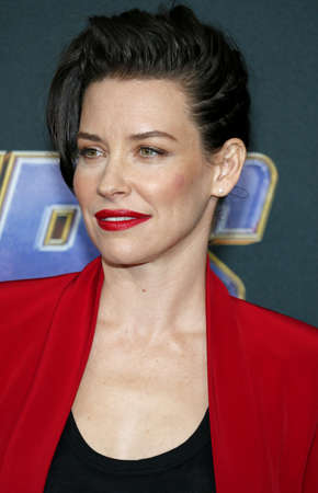 Evangeline Lilly at the World premiere of 'Avengers: Endgame' held at the LA Convention Center in Los Angeles, USA on April 22, 2019.