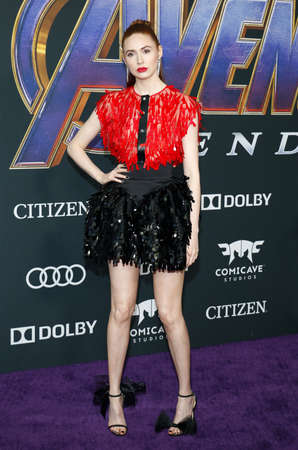 Karen Gillan at the World premiere of Avengers: Endgame held at the LA Convention Center in Los Angeles, USA on April 22, 2019.