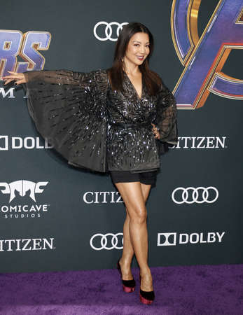 Ming-Na Wen at the World premiere of Avengers: Endgame held at the LA Convention Center in Los Angeles, USA on April 22, 2019. 에디토리얼