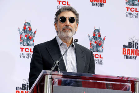 Chuck Lorre at the handprints ceremony for The Big Bang Theory held at the TCL Chinese Theatre IMAX in Hollywood, USA on May 1, 2019.