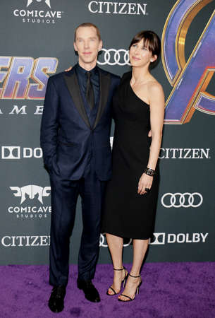 Sophie Hunter and Benedict Cumberbatch at the World premiere of Avengers: Endgame held at the LA Convention Center in Los Angeles, USA on April 22, 2019.