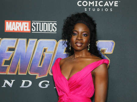 Danai Gurira at the World premiere of 'Avengers: Endgame' held at the LA Convention Center in Los Angeles, USA on April 22, 2019.