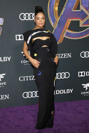 Tessa Thompson at the World premiere of Avengers: Endgame held at the LA Convention Center in Los Angeles, USA on April 22, 2019.