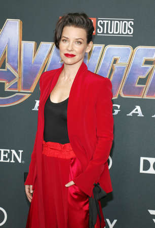 Evangeline Lilly at the World premiere of Avengers: Endgame held at the LA Convention Center in Los Angeles, USA on April 22, 2019. Editorial