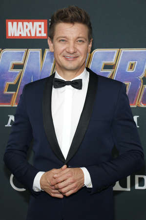Jeremy Renner at the World premiere of Avengers: Endgame held at the LA Convention Center in Los Angeles, USA on April 22, 2019.