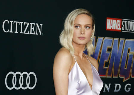 Brie Larson at the World premiere of Avengers: Endgame held at the LA Convention Center in Los Angeles, USA on April 22, 2019. Editorial