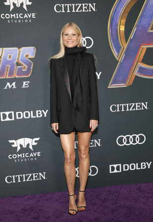 Gwyneth Paltrow at the World premiere of Avengers: Endgame held at the LA Convention Center in Los Angeles, USA on April 22, 2019.