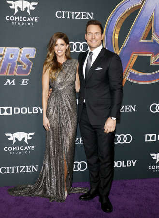 Chris Pratt and Katherine Schwarzenegger at the World premiere of Avengers: Endgame held at the LA Convention Center in Los Angeles, USA on April 22, 2019.