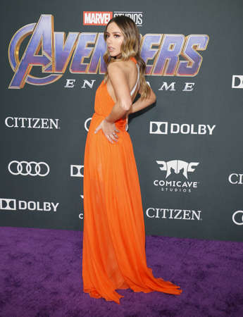 Chloe Bennet at the World premiere of 'Avengers: Endgame' held at the LA Convention Center in Los Angeles, USA on April 22, 2019. 版權商用圖片 - 122152829